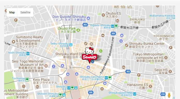 Hello Kitty, Sanrio, Shinjuku, Flagship store, family travel, traveling with kids, diapersonaplane, Diapers On A Plane,