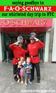 FAO Schwarz, Toy Store, Massive Toy Store, NYC Toy Store, Manhattan Toy Store, diapersonaplane, Diapers On A Plane, traveling with kids, family travel, creating family memories