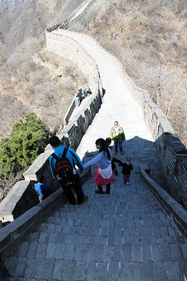 Great Wall of China, Beijing, Mutianyu Section, Gondola, Great Wall of China with kids, diapersonaplane, Diapers on a plane, traveling with kids, family travel, creating family memories, china