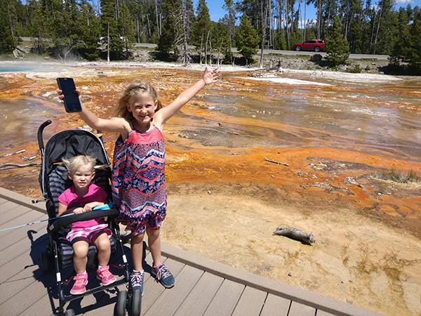 Yellowstone, Paint Pots, National Park, Nature, World School, 2017 Year in Review, diapersonaplane, diapers on a plane, creating family memories, family travel, traveling with kids