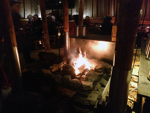 Fire in a Sami Tent in Norway