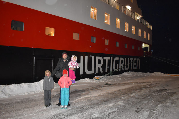 Hurtigruten, Authentic Scandinavia, Norway Cruise, Norwegian Cruise, Winter Cruise, Fjord Cruise, Cruising Norway, Norway, Tromso, Kirkenes, Bergen, Oslo, diapersonaplane, diapers on a plane, creating family memories, misadventures traveling standby, family travel, traveling with kids