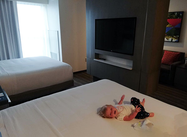 Hyatt House Orlando Universal, Family Hotel, Family Hotel with Kitchen, family travel, traveling with kids, diapers on a plane