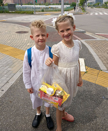 Twins Baptism Day Popsicles