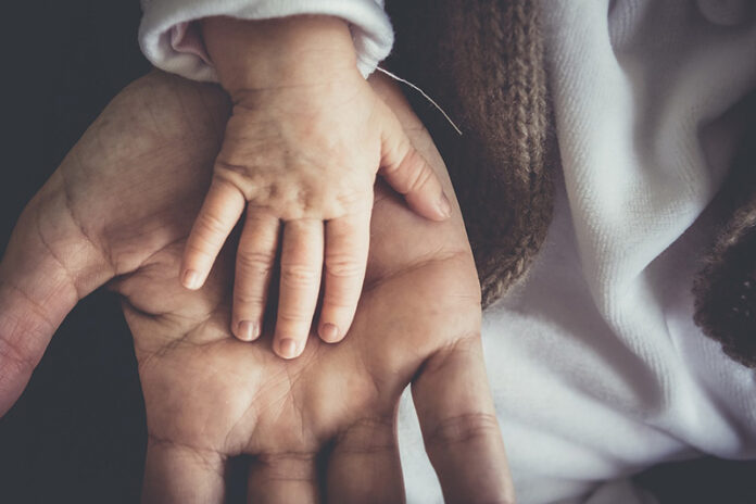 Child Hands with Parent